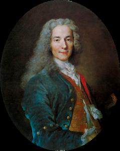 François-Marie Arouet dit Voltaire, autor Nicolas de Largillière cca. 1724.g.